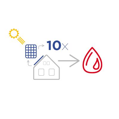10 solárních panelů - akumulace energie do vody   BCE.cz