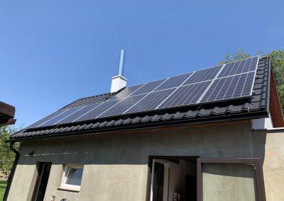 Fotovoltaická elektrárna 3,64 KWp, Akumulace energie do TUV